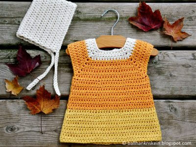 Candy Corn Crochet Costume