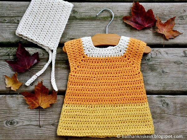 Candy Corn Crochet Costume