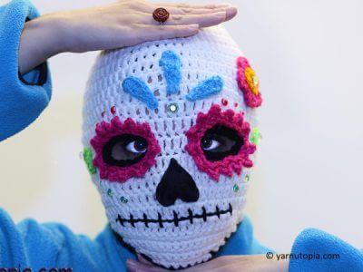 Sugar Skull Ski Mask