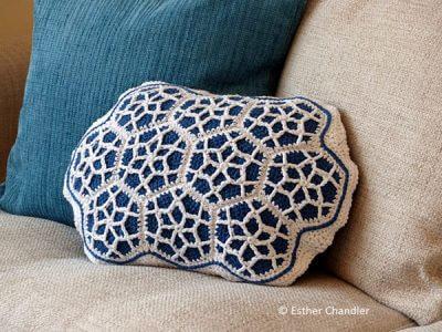 Moroccan Hexagon Motif Cushion