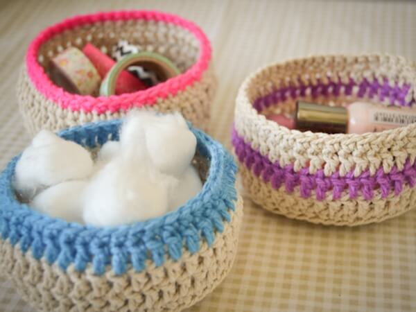 Free Patterns Crochet Baskets Bowls : LOVING?CROCHET BASKETS Share a Pattern