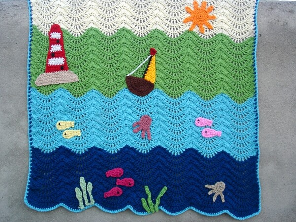 Waterworld Ripple Baby Blanket