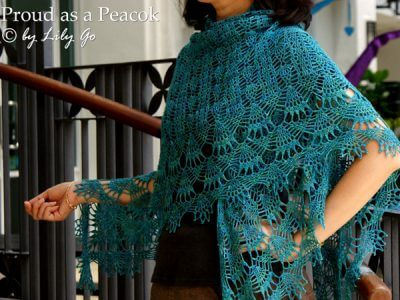 Proud as a Peacock Crocheted Shawl