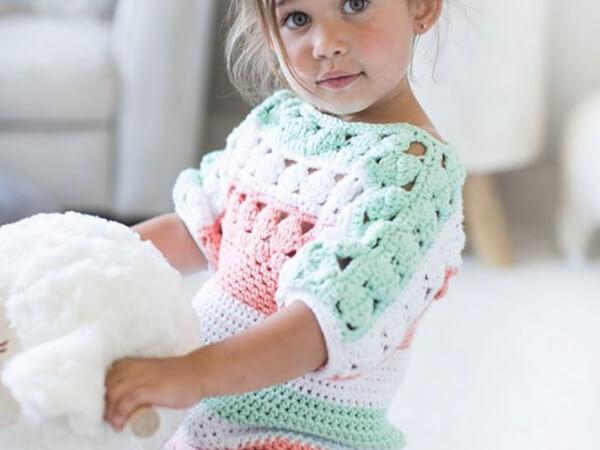 Crochet Tunic Pattern Baby to Child