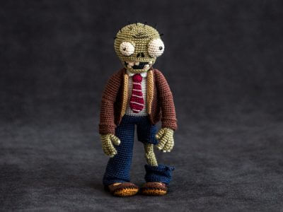 "Crochet Pattern of Zombie from ""Plants vs Zombies"""