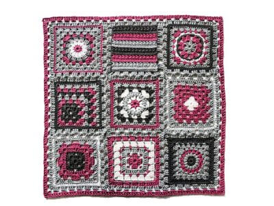 """Crochet meets Patchwork"" Afghan"