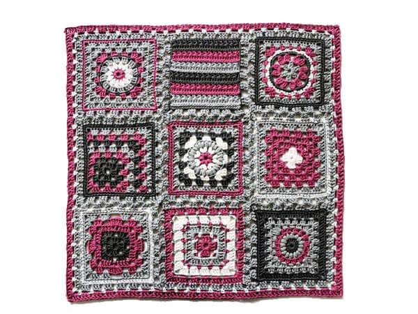 """Crochet meets Patchwork"" Afghan"