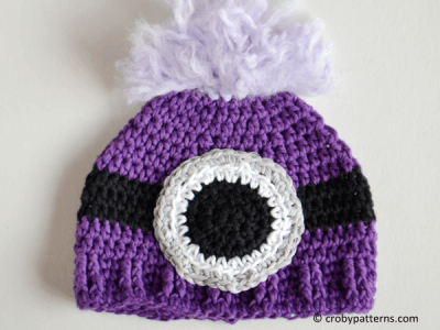 Evil Minion Inspired Crochet Baby Hat