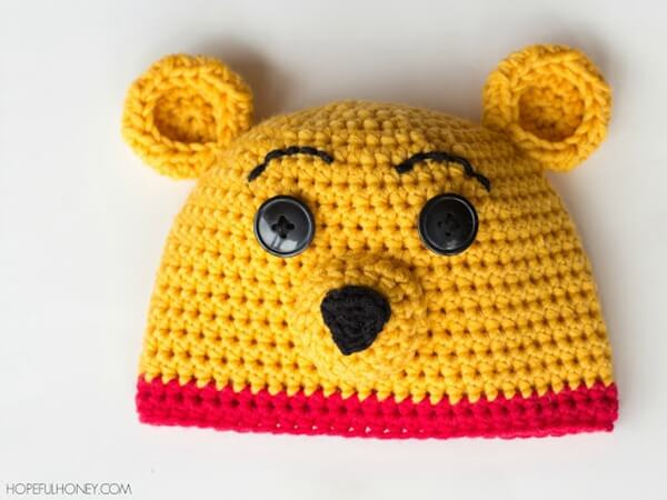 Winnie The Pooh Inspired Hat & Diaper Cover Free Crochet Pattern 2