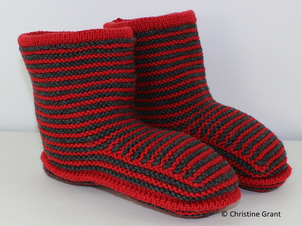 Cloudborn Fibers Adult Stripe Boots
