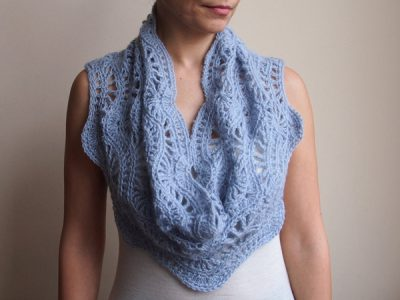 Infinity scarf Crochet Pattern circle scarf woman ripples crochet pattern