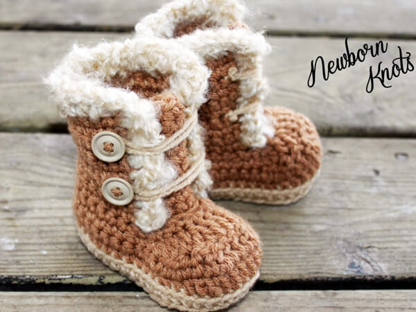 Boys or Girls Fur Trim Booties