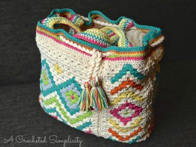 Boho Chic Mosaic Tote Bag