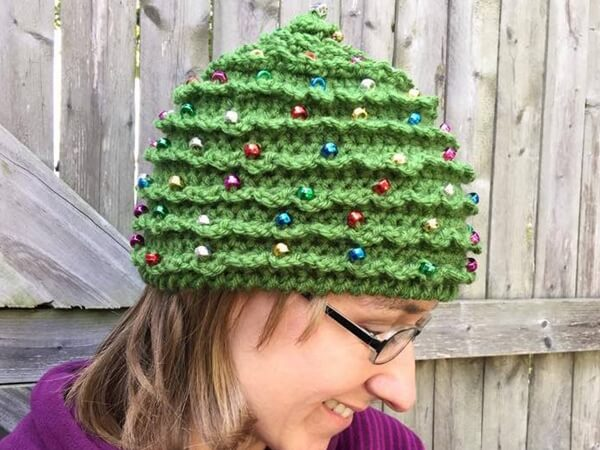 Adorable Christmas Tree Hat