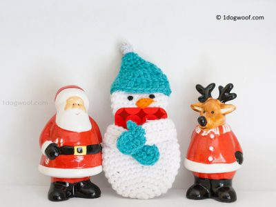 SNOWMAN GIFT CARD HOLDER CROCHET PATTERN