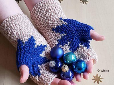 Xmas Star Mitts