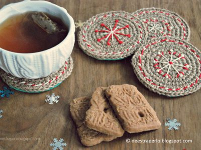 Crochet Christmas Coasters