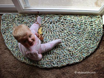 Easy Half Circle Crochet Rug