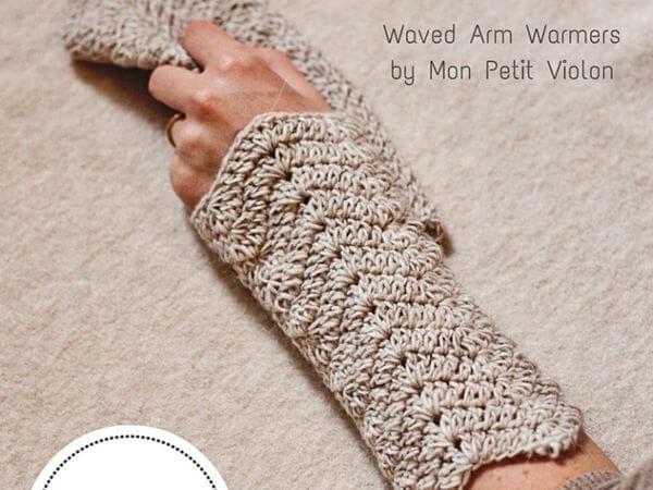 Waved Arm Warmers