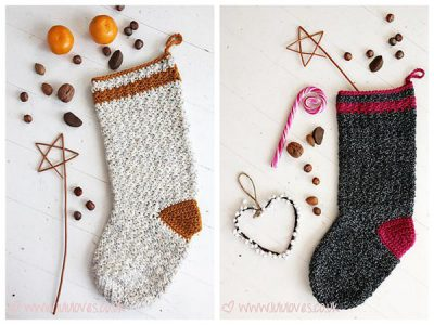 Christmas Tweed Stocking