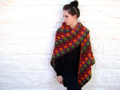 Giant Fall Granny Scarf