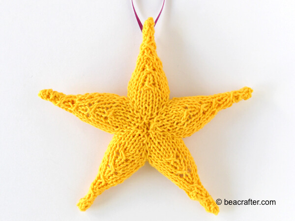 Knit Star Ornament