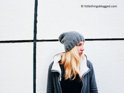 FREE SLOUCHY KNIT BEANIE PATTERN