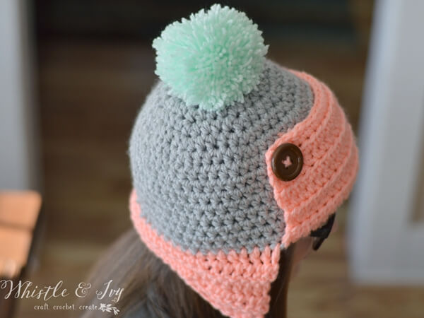 Womens Button Trapper Hat Share A Pattern