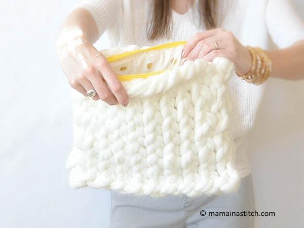 Plush Knit Bag
