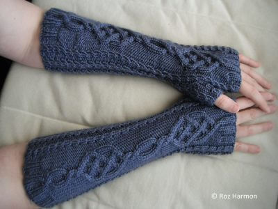Fire & Ice Fingerless Mitts