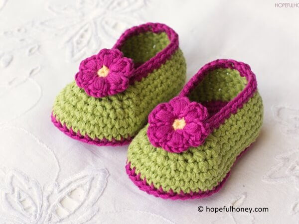 Fairy Blossom Baby Booties Crochet Pattern 6