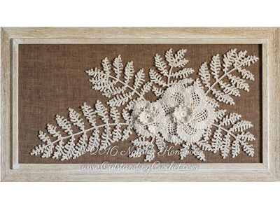 Motifs Poppy Flowers and Fern Leaf Applique Pattern
