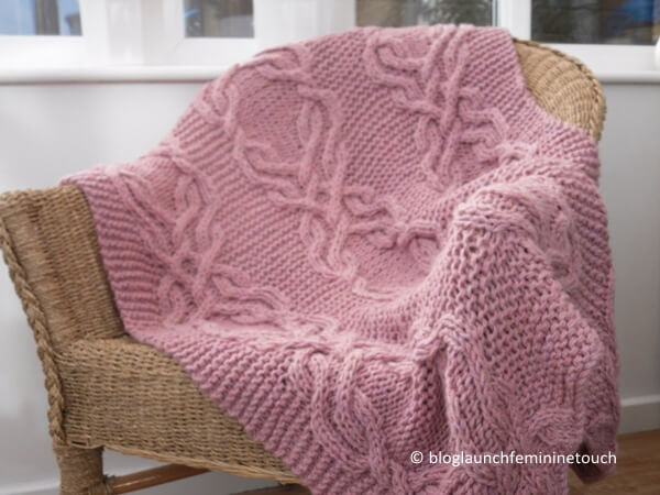 Cable Lap Blanket