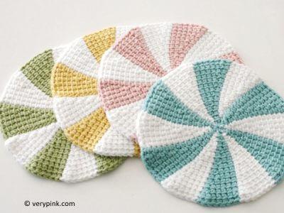 Tunisian Crochet Shaker Dishcloths
