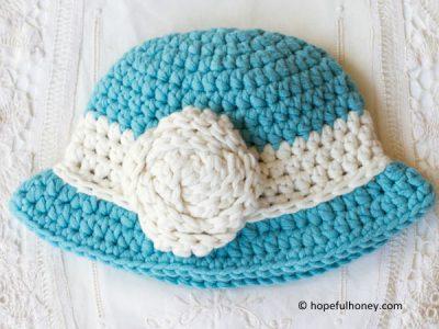 Vintage Baby Cloche Hat Free Crochet Pattern