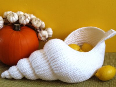"""Spiral Shell"" Crochet Basket"