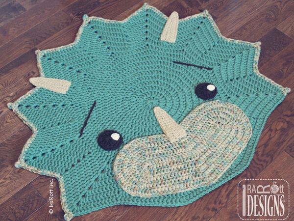 The Triceratops Dino Rug
