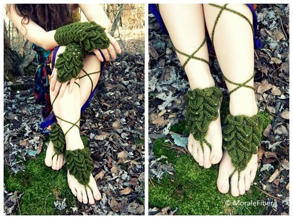 Mermaid Mitts & Barefoot Sandals