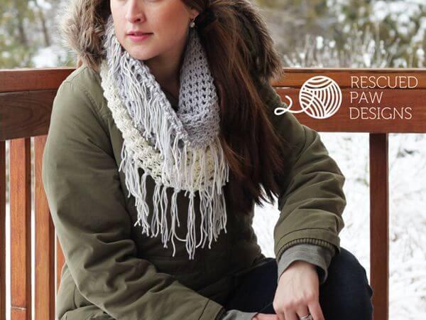 Crochet Cowl Pattern – The Gracelyn Fringe