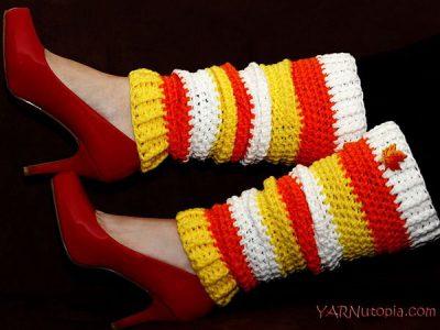 Candy Corn Leg Warmers