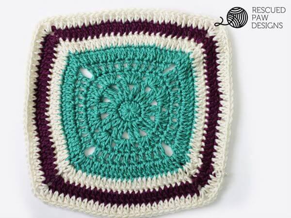 Free Crochet Blanket Square Pattern