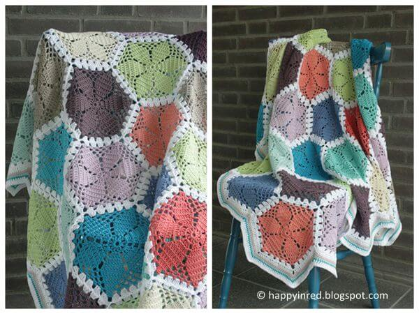 Lace Hexagon Blanket