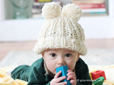 Baby Snow Angel Hat