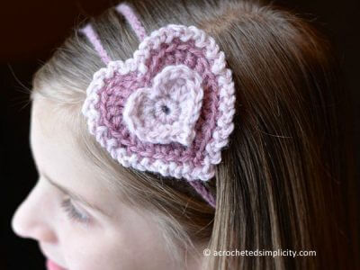 """Stacked Hearts"" Headband & Treat Holder"