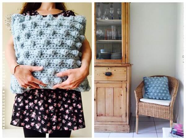 Bobble Stitch Cushion