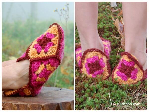 Granny Square Slippers