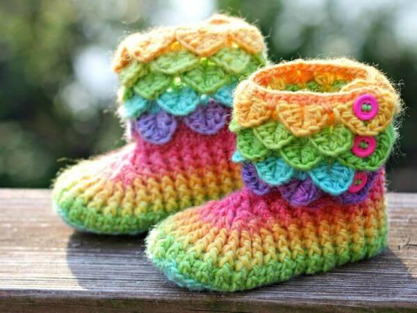 Crocodile Stitch Boots