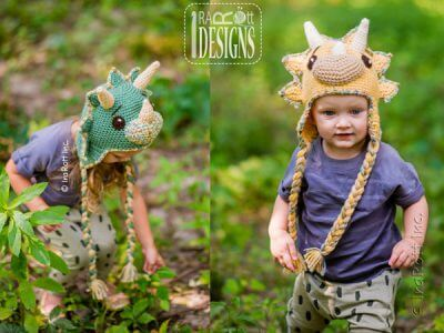 The Triceratops Dino Hat