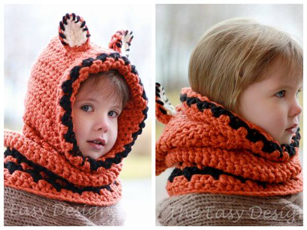 Frankie Fox Hooded Cowl Hood Hat