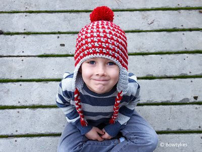 Crisscross Earflap Hat